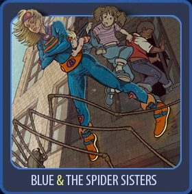 Blue and the spider Sisters