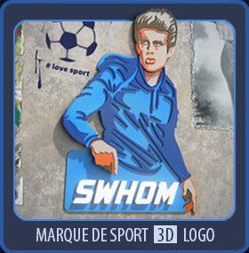 Logo 3D streetart